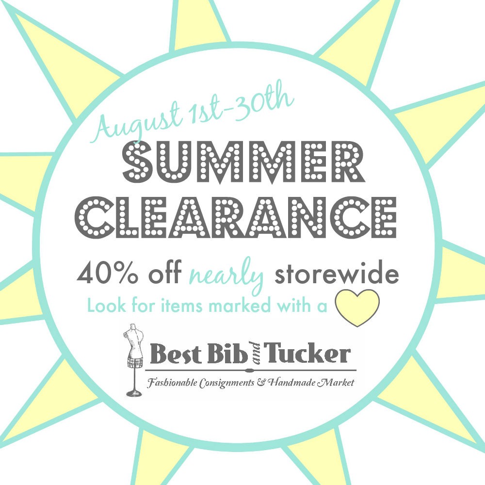 Summer Clearance 2014 square graphic Best Bib