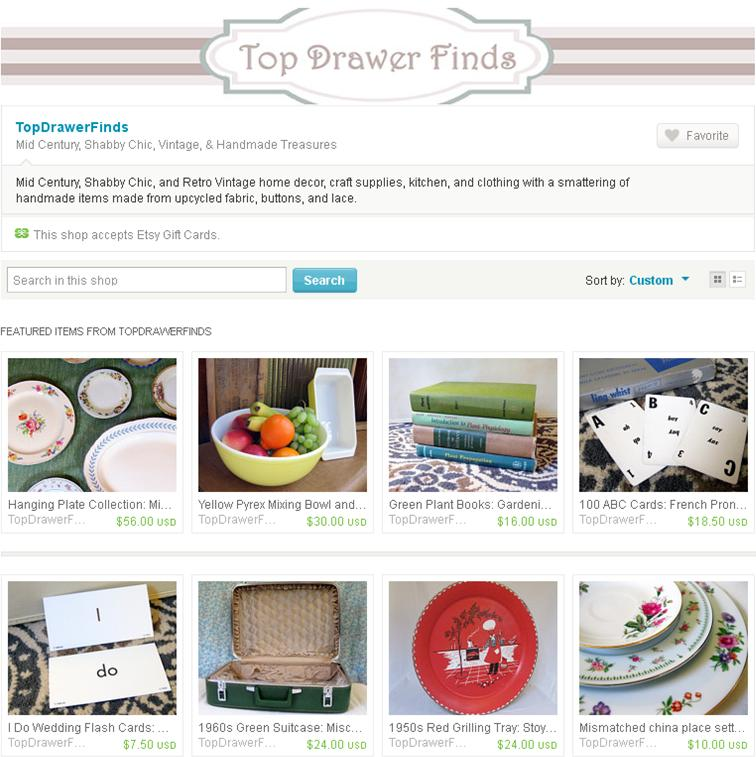 top drawer finds vintage etsy shop home page may