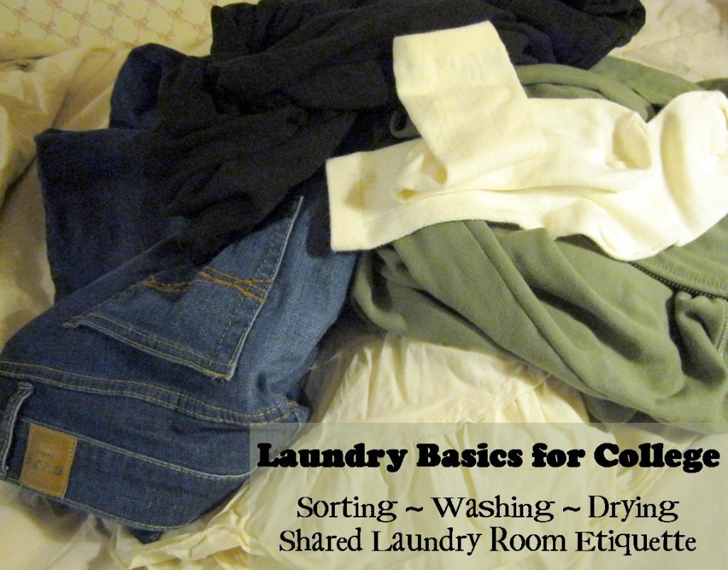 how to sort, wash, and dry