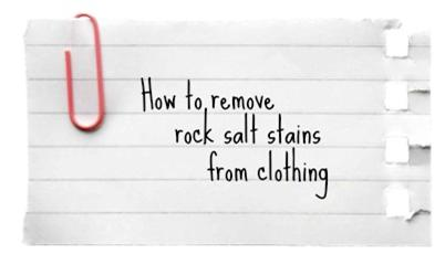 rock salt stains