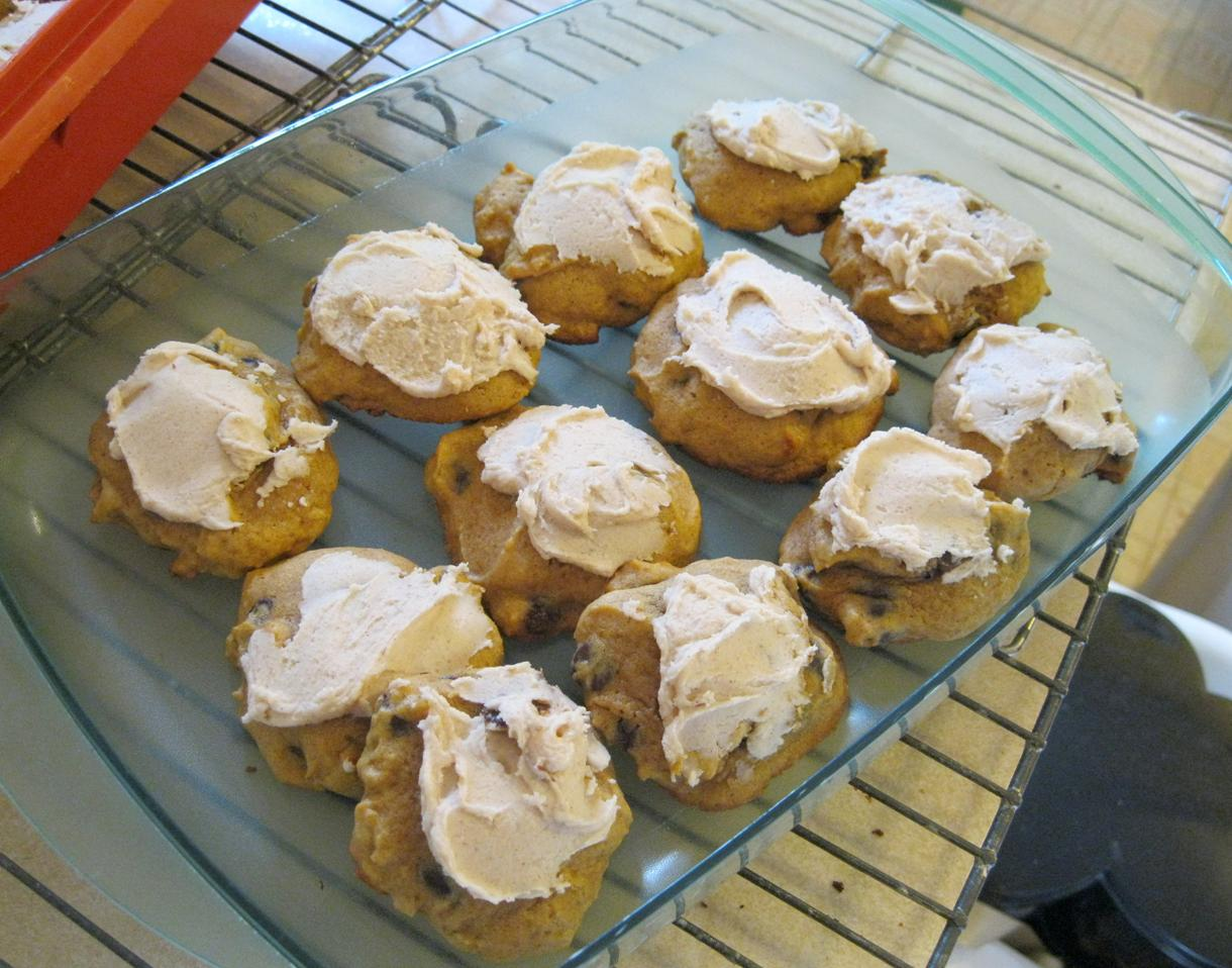 Pumpkin Cookies With Cinnamon Icing Recipes — Dishmaps