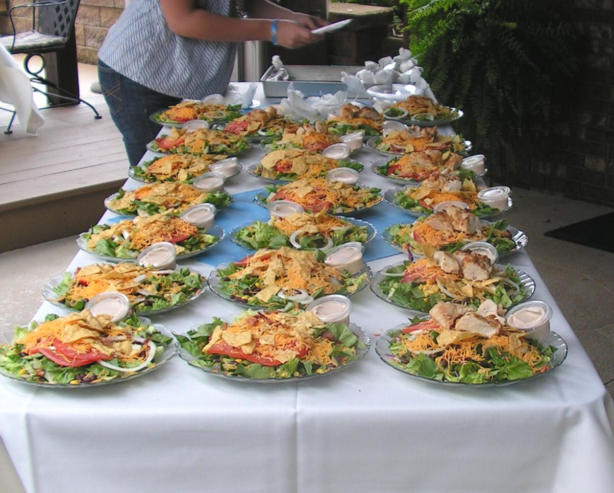 menu ideas salad luncheon bridal shower