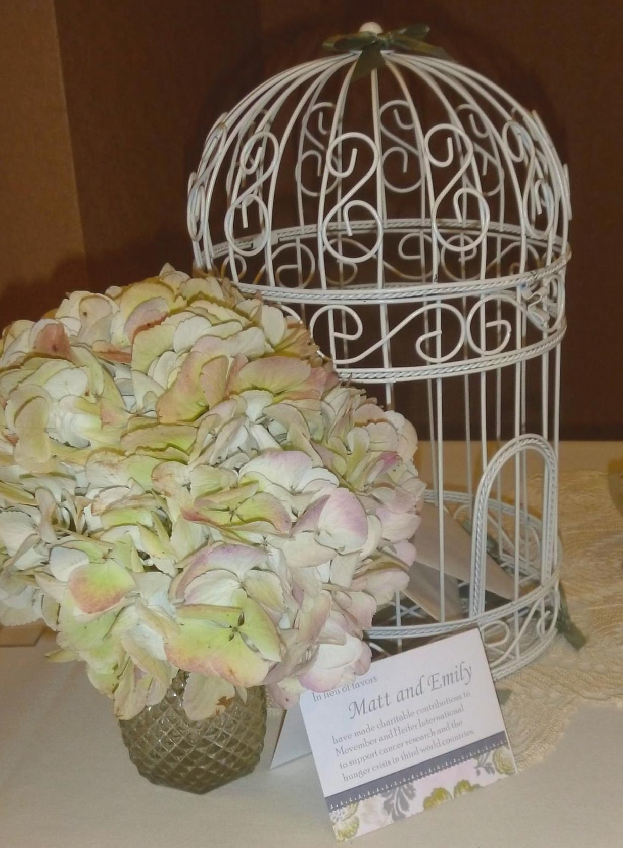 The Wedding March Bird Cage Card Holder