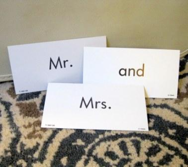 Mr and Mrs flashcards b