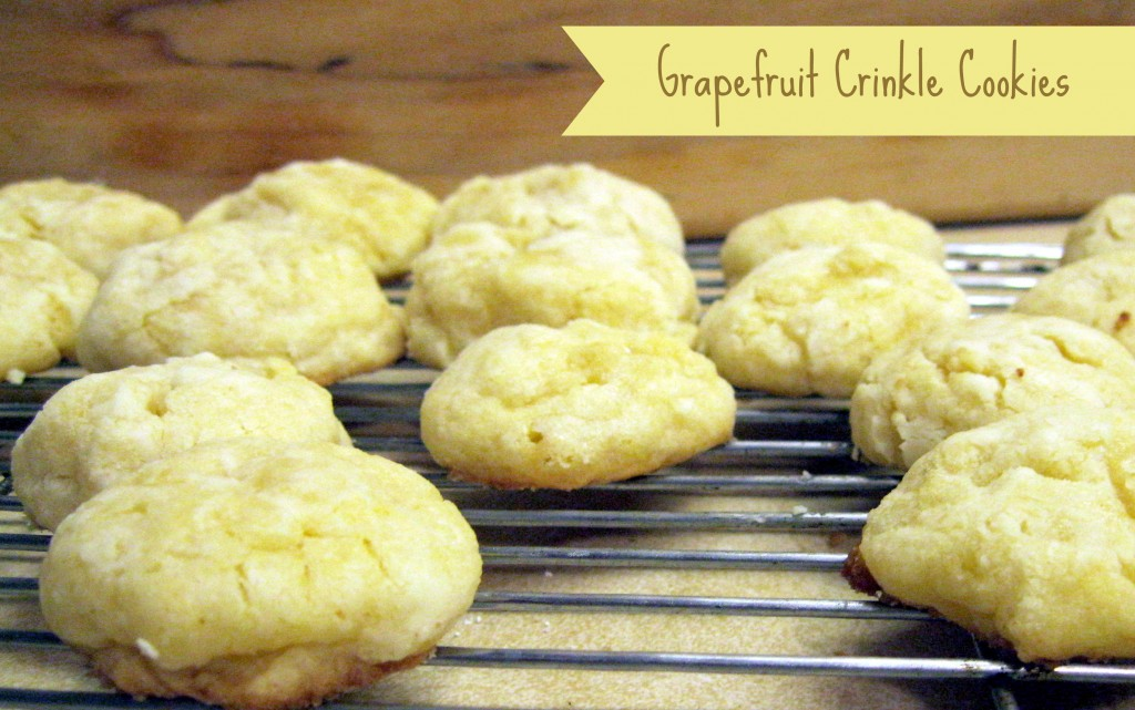 grapefruit crinkle cookies