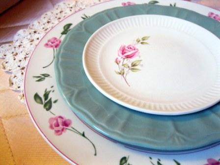 mismatched china wedding shabby chic centerpiece