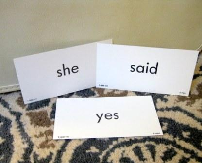 she said yes flashcards b