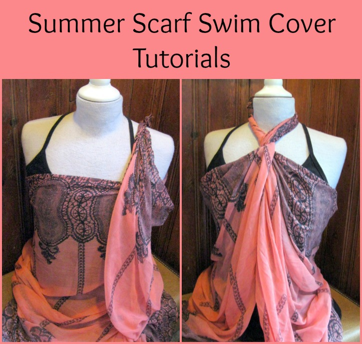scarf tying tutorial swim cover up
