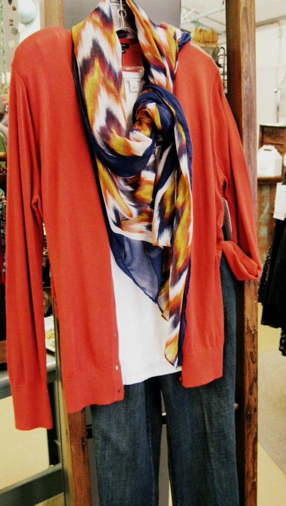 mix 3, 5, and 8 with the fabulous printed scarf