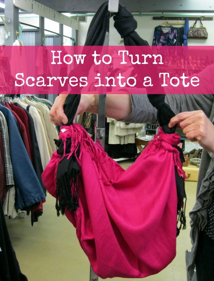 how to turn scarves into a tote no sew