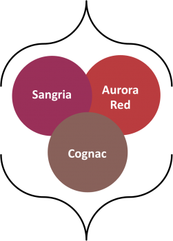 Fall 2014 colors Sangria, Aurora Red, Cognac