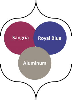 Fall 2014 colors aluminum, royal blue, sangria