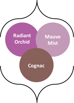 Fall 2014 colors mauve mist, radiant orchid, and congnac