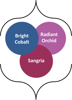 Fall 2014 colors radiant orchid, bright cobalt, sangria