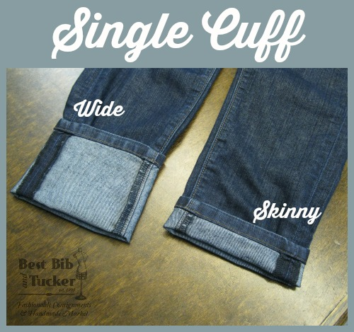 how to hem pants and add a cuff