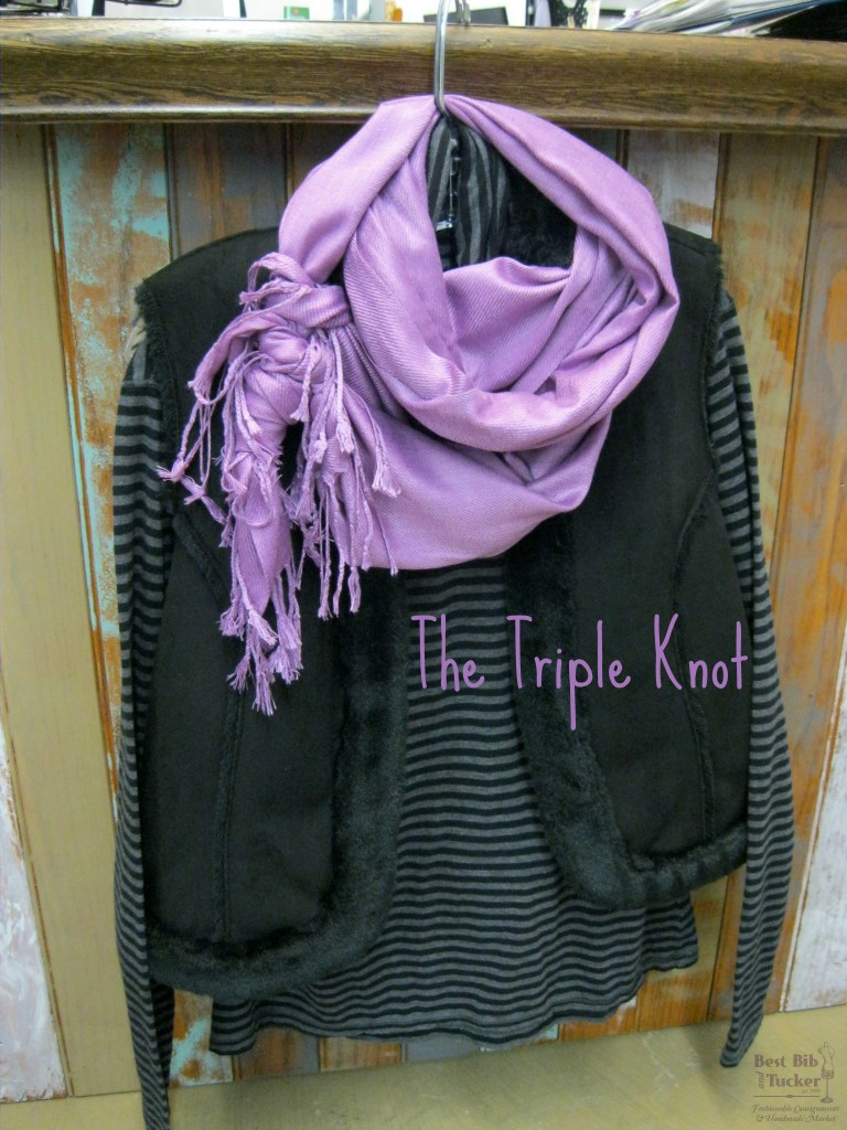 scarf tying the triple knot