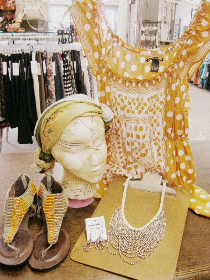 70s style head scarves and beads