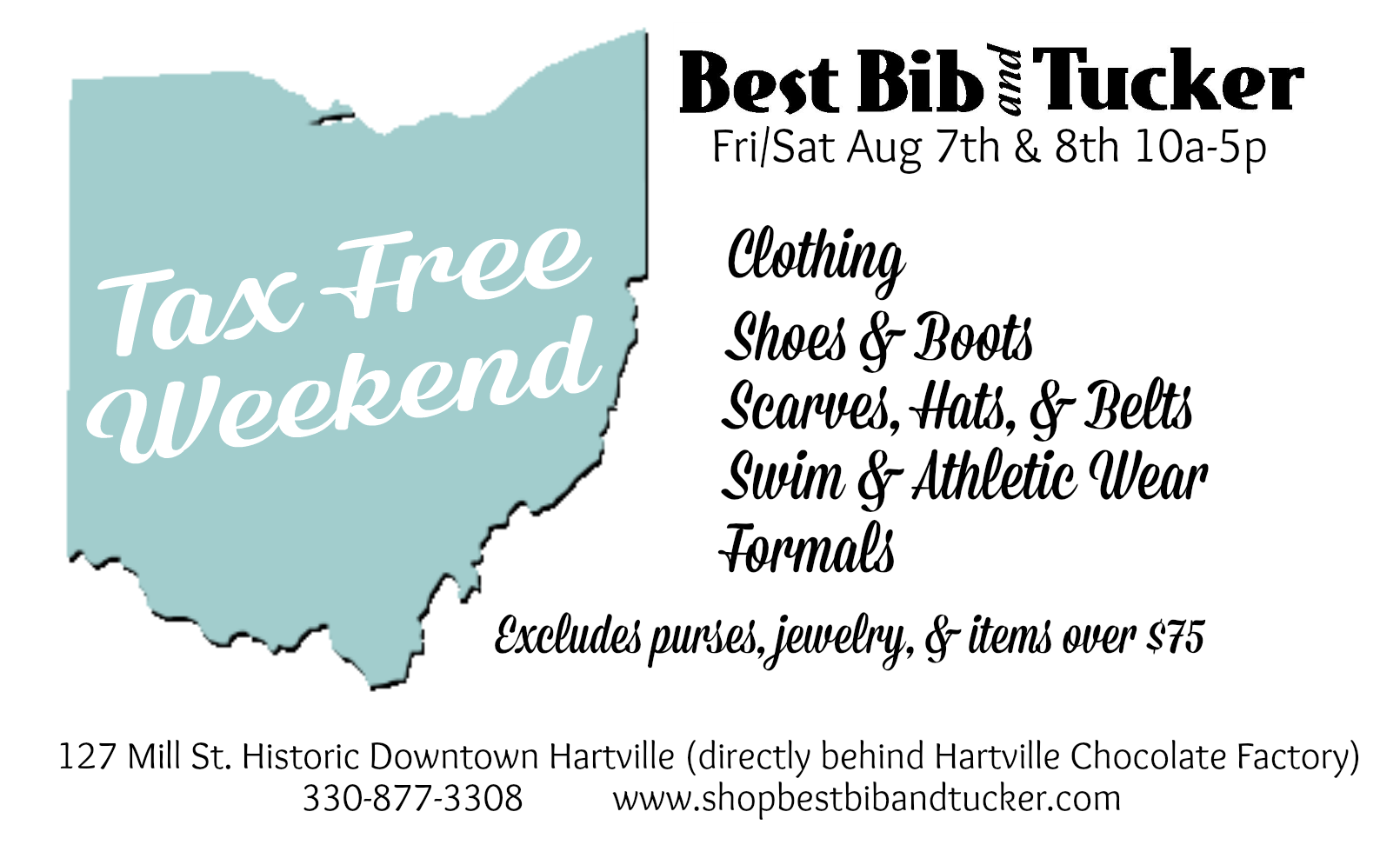 Best Bib and Tucker Tax Free Weekend Ohio