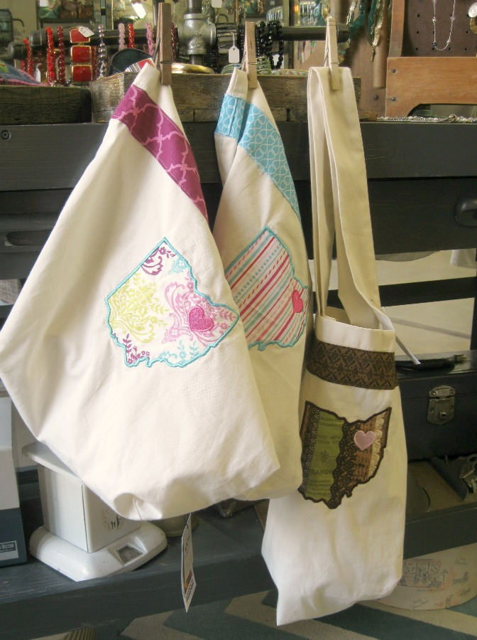 Sew Appealing Ohio Totes at Best Bib and Tucker Hartville, Ohio Handmade Market