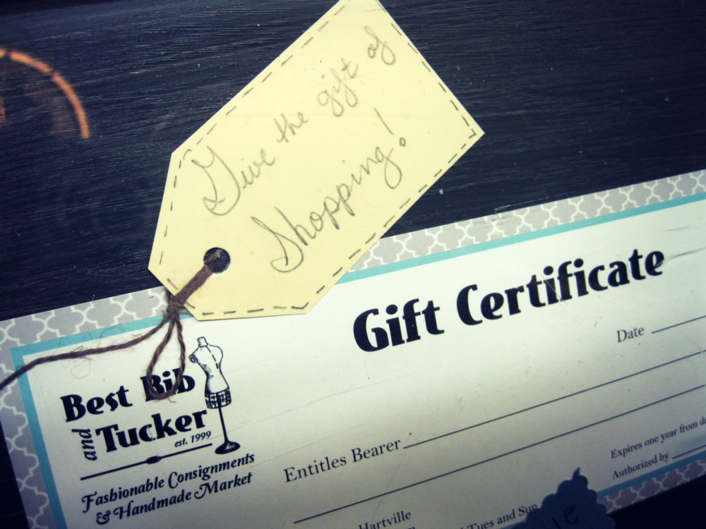 Give the gift of shopping with Best Bib gift certificates
