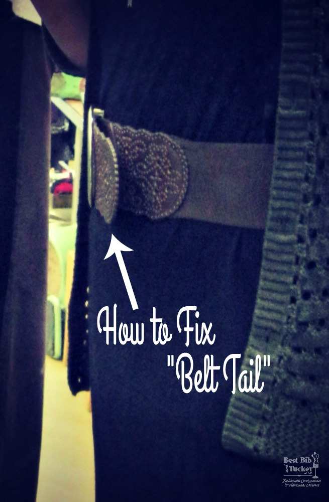 how to fix belt tail