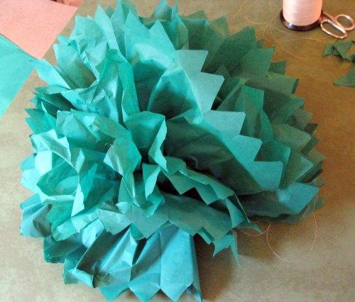tissue paper pom poms 8