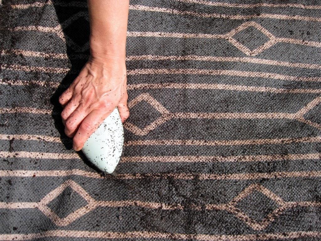 coffee dyed rug 3