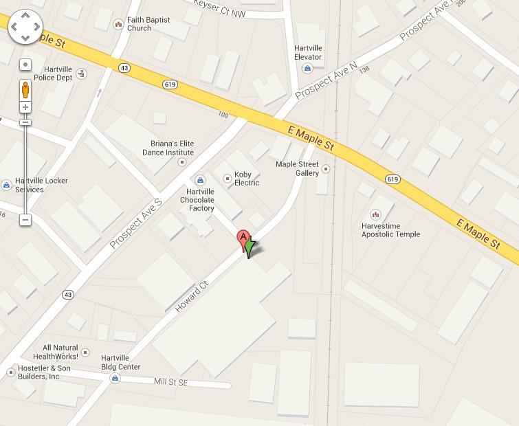 Downtown Hartville Map- Best Bib and Tucker 127 Mill Street