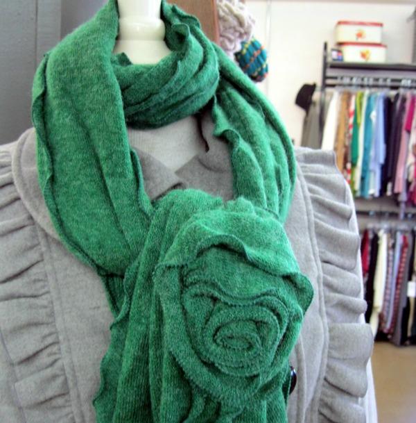 hidden knot scarf tie step 3