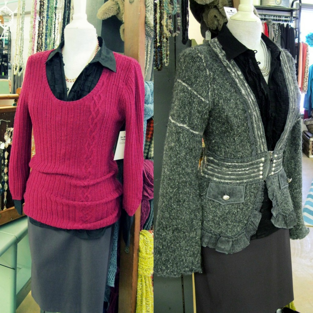 sweater and skirt outfits