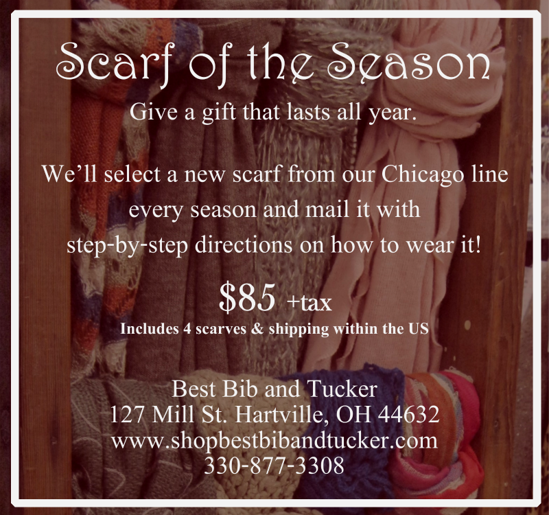 Scarf of the Season subscription at Best Bib and Tucker