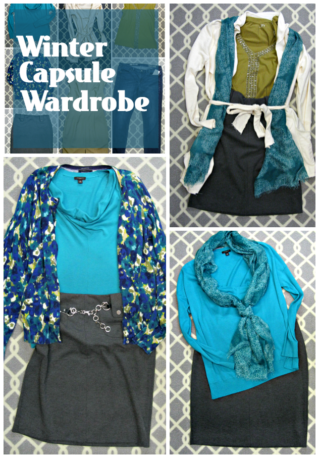 winter capsule outfits 1