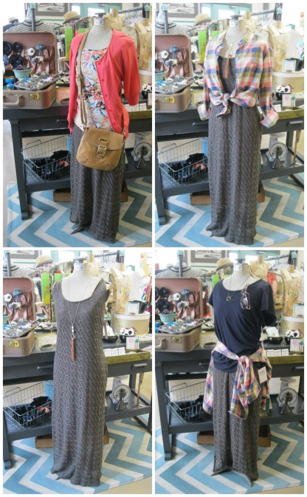 summer capsule wardrobe outfits with a maxi dress