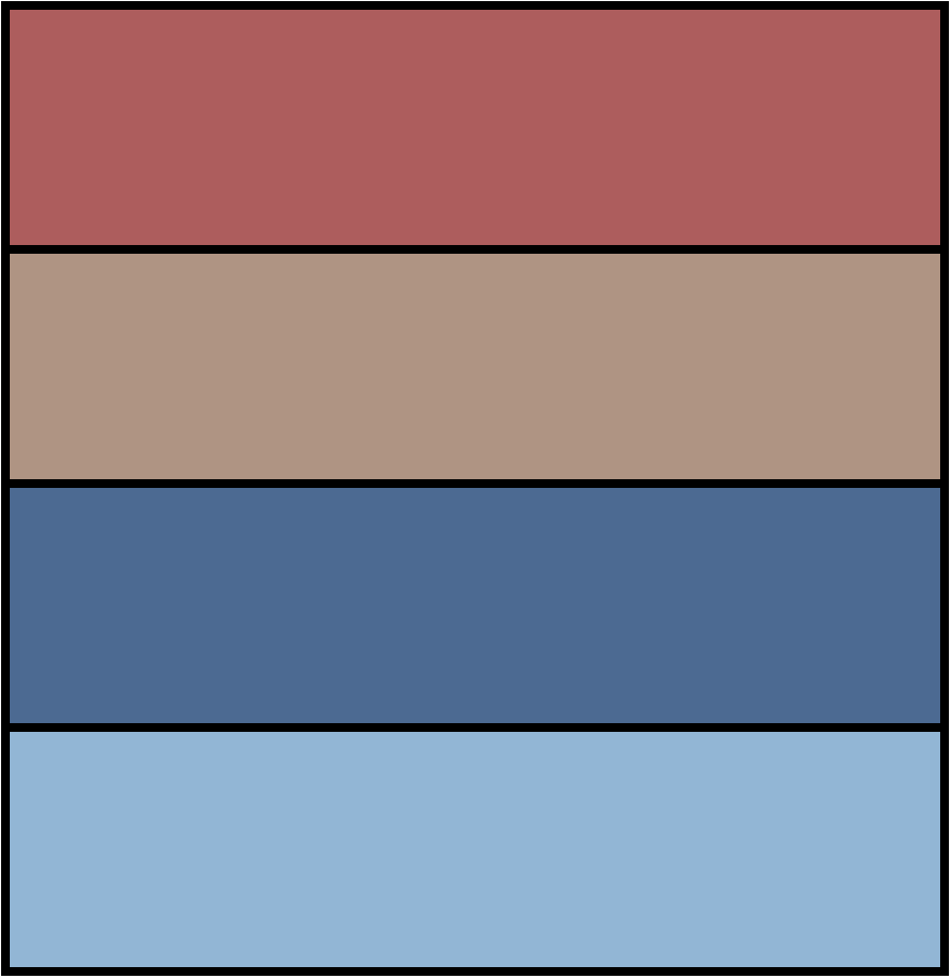 Fall colors - dusty cedar, warm taupe, riverside, airy blue